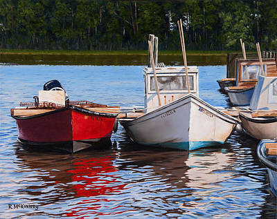 Painting - Red White And Blue by Rick McKinney