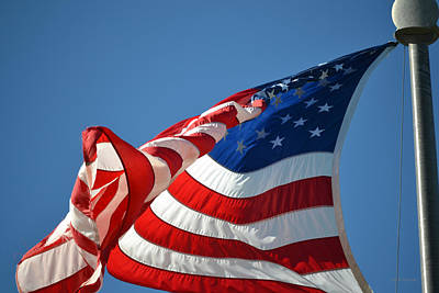 Photograph - Red White And Blue - U.s. Flag by rd Erickson