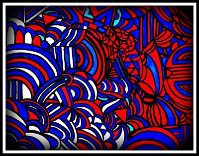 Red White And Blue Mixed Media - Red White And Blue by Wendie Busig-Kohn