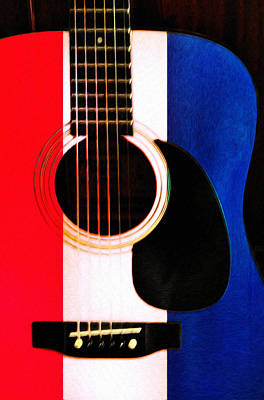 Red White And Blues Art Print by Bill Cannon