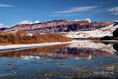 Fisher Towers Photograph - Red White And Colorado by Adam Jewell
