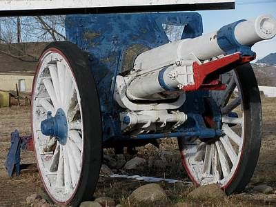 Red White Blue Cannon Original by Steven Parker