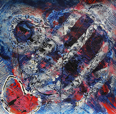 Painting - Red White Blue by Cleaster Cotton