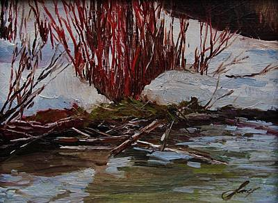Red Willows Art Print by Suzanne Tynes