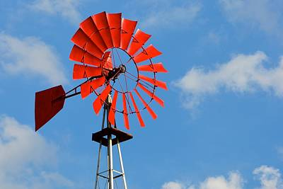 Photograph - Red Windmill by Tana Reiff