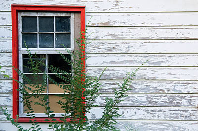Photograph - Red Window Frame by Melinda Fawver