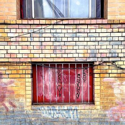 Painted Photograph - Red Window by Julie Gebhardt