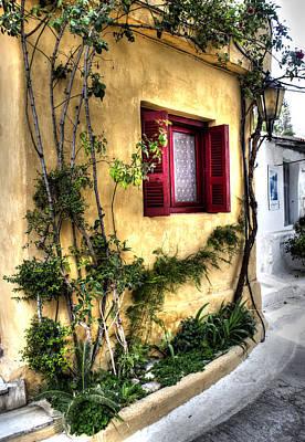 Photograph - Red Window by Radoslav Nedelchev