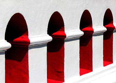 Photograph - Red Windows by Ramona Johnston