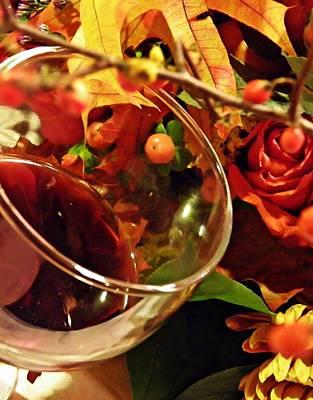 Red Wine 2 Print by Sarah Loft