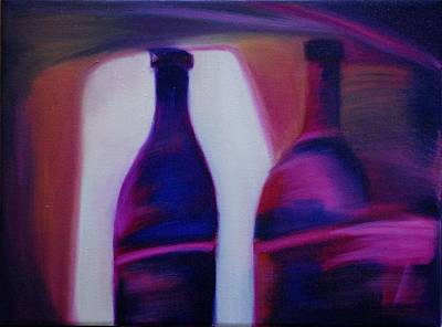 Red Wine Abstract Original