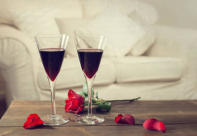 Table Wine Photograph - Red Wine by Amanda Elwell