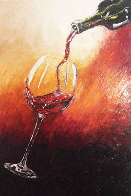 Painting - Red Wine by Eryn Tehan