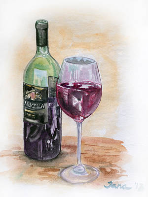 Red Wine Original by Jana Goode
