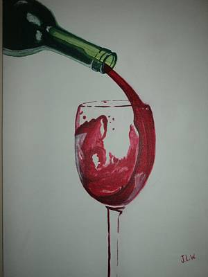 Art Print featuring the painting Red Wine by Justin Lee Williams