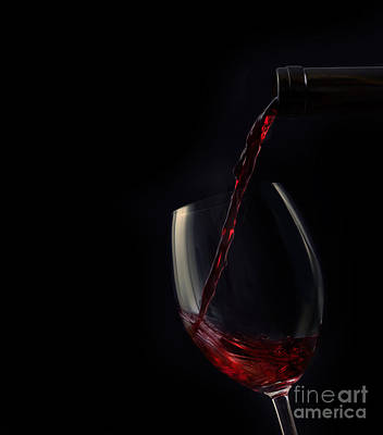 Vino Photograph - Red Wine by Mythja  Photography