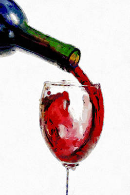 Red Wine Pouring Art Print by Georgi Dimitrov