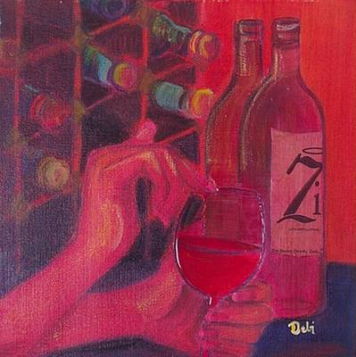 Red Wine Room Art Print by Debi Starr