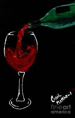 Red Wine Toast Art Print by Gail Matthews