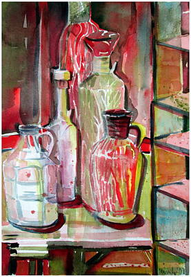 Red Wine Vinegar Art Print by Mindy Newman