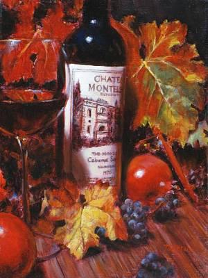 Red Wine With Red Pomergranates Art Print by Takayuki Harada