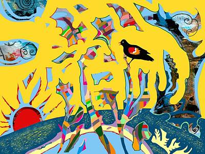 Keith Richards - Redwing Blackbird Sunrise by Marcio Melo