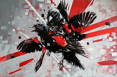Red Wings Painting - Red Wing by Jeremy Scott