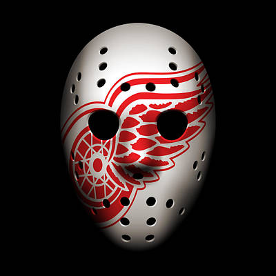 Hockey Photograph - Red Wings Goalie Mask by Joe Hamilton