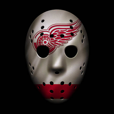 Hockey Photograph - Red Wings Jersey Mask by Joe Hamilton