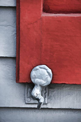 Photograph - Red Wood Window Shutter by David Letts