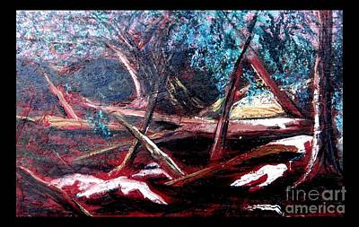Painting - Red Woodland by Joseph Wetzel
