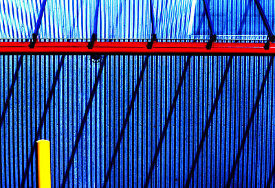 Photograph - Red Yellow And Blue Lines by Robert  Rodvik