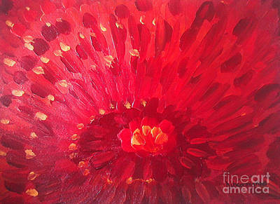 Painting - Red Zinnia by Holly Carmichael