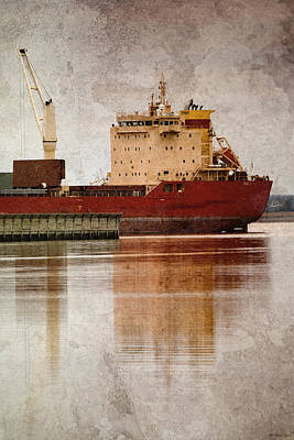 Photograph - Redboat by WB Johnston