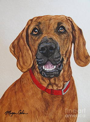 Wall Art - Painting - Redbone Coonhound by Megan Cohen