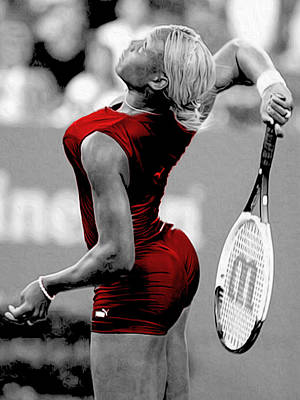 Serena Williams Photograph - Red Cat Suit by Brian Reaves