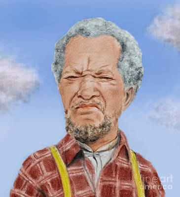 Drawing - Redd Foxx As Fred Sanford by Jim Fitzpatrick
