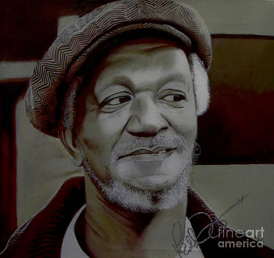 Painting - Redd Foxx by Chelle Brantley