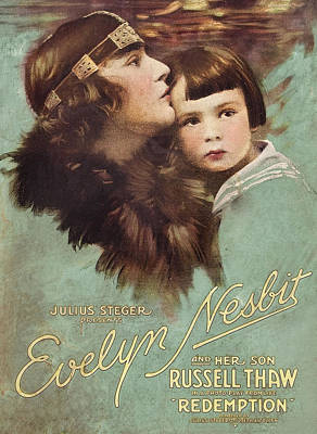 Redemption, L-r Evelyn Nesbit, Russell Art Print