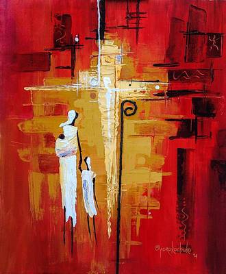 Art Print featuring the painting Redemption Path by Oyoroko Ken ochuko