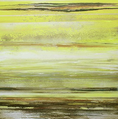 Mixed Media - Redesdale Rhythms And Textures Series Yellow And Sepia by Mike   Bell