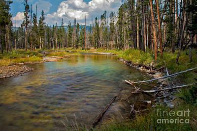 Haybales Photograph - Redfish Lake Creek by Robert Bales