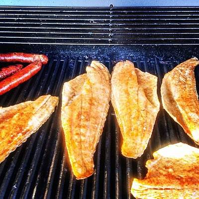 Healthy Wall Art - Photograph - Redfish On The Grill Don't Hate!! by Scott Pellegrin