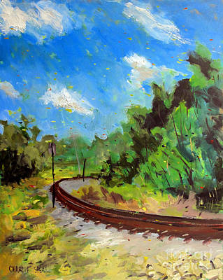 Masonite Painting - Redgreenred Norfolk Southern Rr by Charlie Spear