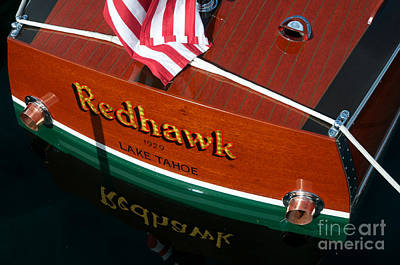 Art Print featuring the photograph Redhawk by Vinnie Oakes