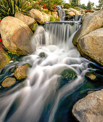 Art Print featuring the photograph Redhawk Waterfall by Robert  Aycock