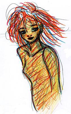 Drawing - Redhead I by Rachel Scott