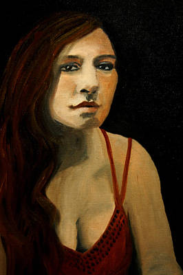 Painting - Redhead In Reflection by Barbara J Blaisdell