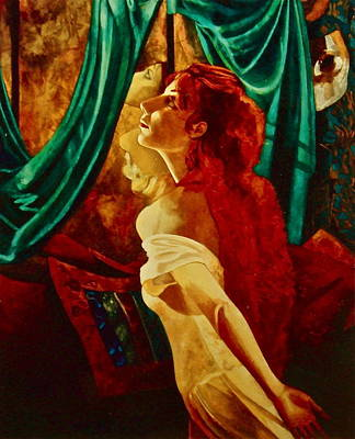 Redhead In The Mirror Art Print by Susan Tammany