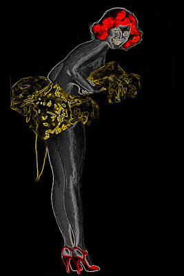 Redhead Man Ray Homage Art Print by Brian King
